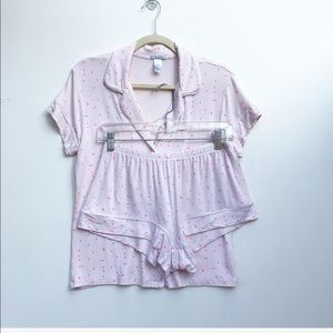 Eberjey Gisele Short PJ Set Pink Small